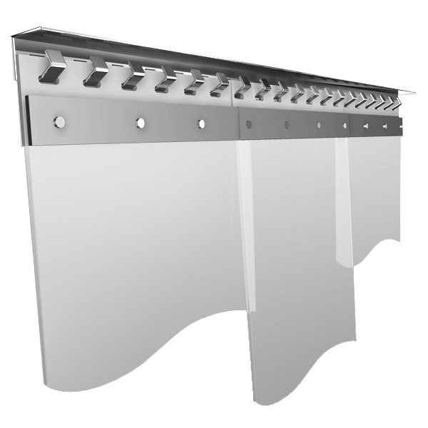 PVC Streifenvorhang VA Einhang