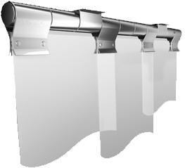 PVC Streifenvorhang Schwenkbar