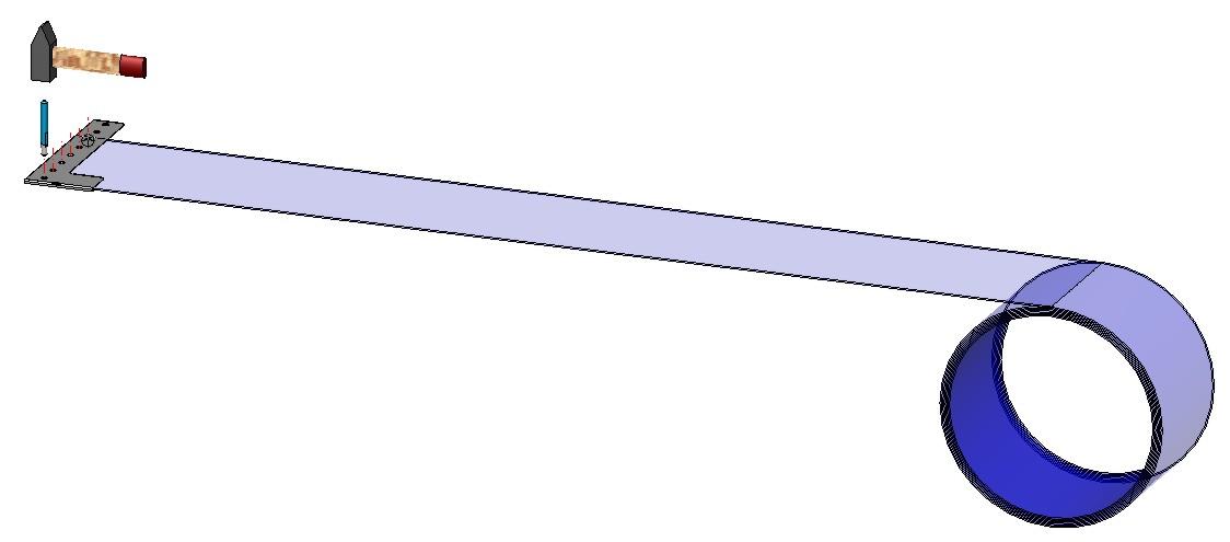 Befestigen der Profilschiene beim PVC Virenschutz Streifenvorhang Selbstmonatage